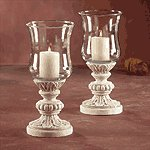 Glass Candleholders Sandstone Finish Base -31679