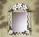 Metal Magnolia Wall Mirror -33592
