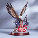 Eagle Sculpture on Wood Base -32419