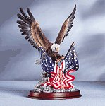 Eagle Sculpture on Wood Base -32419