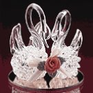 Spun Glass Twin Swans -21780