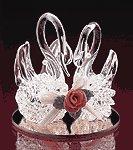 Spun Glass Twin Swans -21780