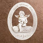 Angels Welcome Here Wall Plaque -34877