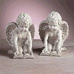 Reading Cherubs Bookends -33570