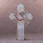 Capiz Shell Cross Candle Holder -34523