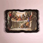 Last Supper Wood Clock -29488