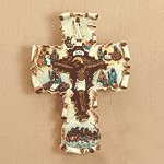 Life of Jesus Scroll Cross -35298