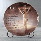 Porcelain Patchwork Crucifixion Plate -33243