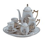 10-Piece Porcelain Madonna & Child Tea Set -31526
