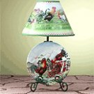 Rooster Plate and Lamp -32453