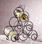 Wrought Iron Swirl Wine Rack -32405