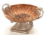 Porcelain Antique-Finish Rose Compote -33627