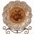 Porcelain Antique-Finish Rose Plate -33625