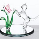 Glass Cat and Butterfly -33893