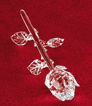 Cut Glass Single Rose -28394