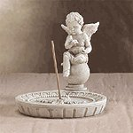 Cherub Round Incense Holder -33567