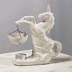 Porcelain Oil Burner - Pearlized Unicorn -30126