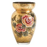 Gold Leaf Glass Vase -35644
