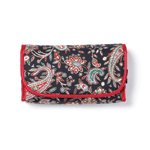 Black Red Paisley Cosmetic Bag -36765