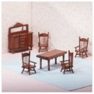 6-Piece Wood Mini Dining Room -25139