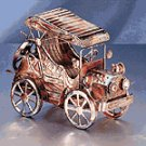 Musical Antique Car Metal Sculpture -25529