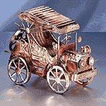 Musical Antique Car Metal Sculpture -25529