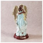 Alabastrite Angel Holding Lamb -28009