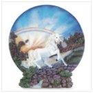 Alabastrite Unicorn Plate With Stand -29009