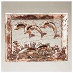 Dolphins Metal Framed Sculpture -29093