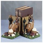 Alabastrite Golfer Bookends -29192