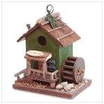 Wood Oil Mill Birdhouse -30211