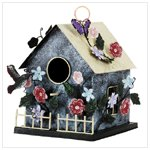 Metal Country House Birdhouse -30802