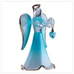 Glass Angel With March Birthstone -30817