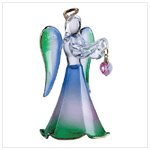 Glass Angel With October Birthstone -30824