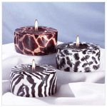 3-Piece Safari Cylinder Candle -31126