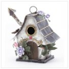 Cottage Shape Painted Birdhouse -31201