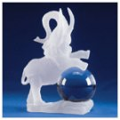 Polyresin Frosted Sculpture - Elephant -31428