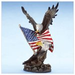Eagle and Flag Sculpture -32327