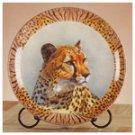 Porcelain Patchwork Cheetah Plate -32415