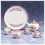 10-Piece Ceramic Pink Floral Mini Tea Set -33039