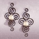 Wrought Iron Swirl Sconces -32402