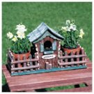 Wood Birdhouse Planter -33157