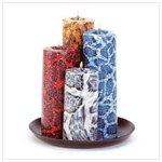 Snakeskin Cylinder Candle Set -33722
