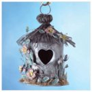Painted Metal Spring Hut Birdhouse -33813