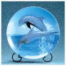 Porcelain Dolphin Patchwork Plate -33817