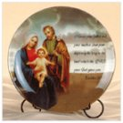 Porcelain Patchwork Holy Family Plate -33819