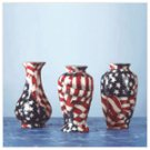 Mini American Flag Patchwork Vases -33846