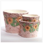 Sunflower-themed Planters -35253