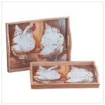 Hen-themed Serving Trays -35061