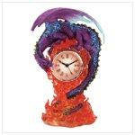 Dragon and Flames Desk Clock -34886
